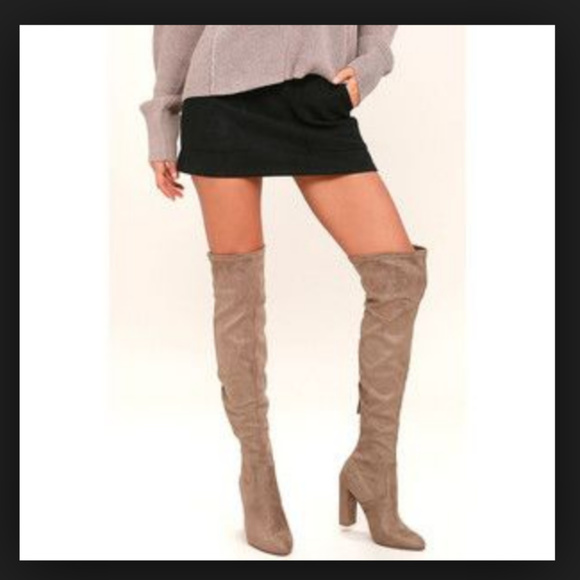 0d61261de9e Steve Madden Slayer Over-the-Knee Boot Taupe
